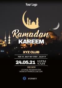 Ramadan Kareem Iftar Eid Mubarak Flyer Event