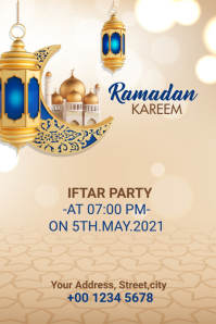 Ramadan Kareem Iftar Party Banner template
