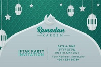 Ramadan Kareem Iftar Party Invitation Ishidi elingu 4' × 6' template