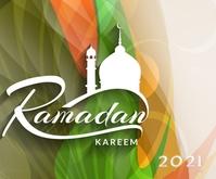 Ramadan Kareem Instagram post สามเหลี่ยมขนาดกลาง template