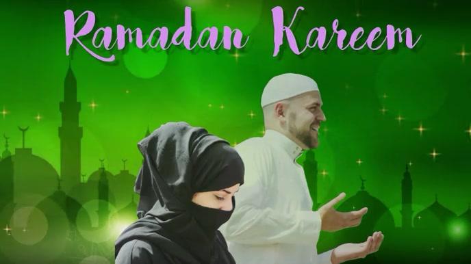 Ramadan/kareem/moubarak/muslim/islam 数字显示屏 (16:9) template