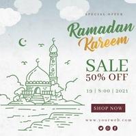 Ramadan kareem sale instagram banner template