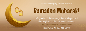 Ramadan Kareem Wish Facebook Cover template