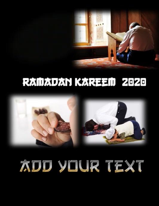 Ramadan Kareem wishes Folder (US Letter) template