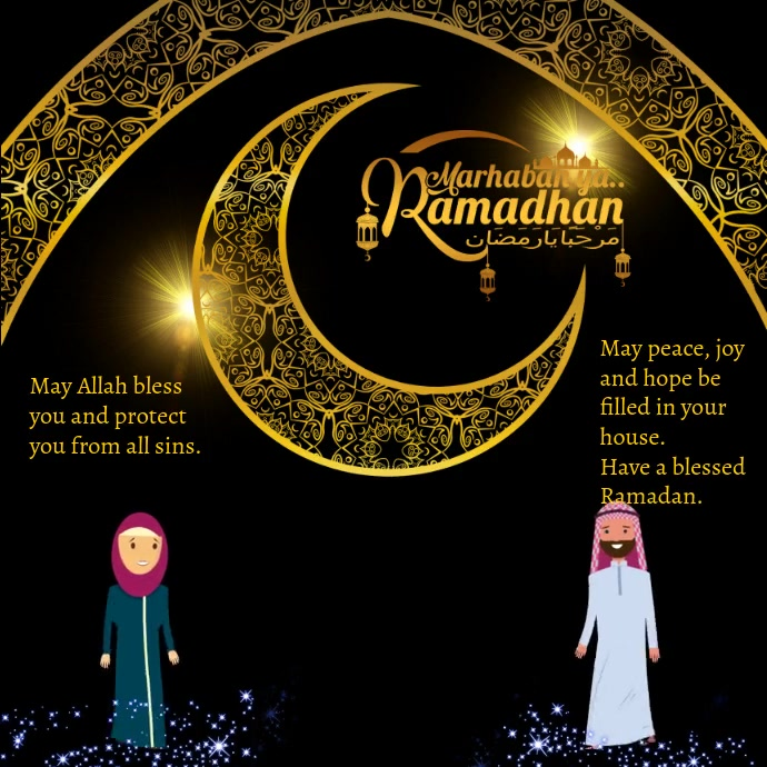 Ramadan Karem Video Design Post Instagram template