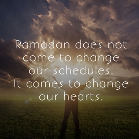 Ramadan Meaning Poster Template Square (1:1)