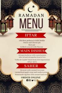 Ramadan menu, Ramadan, Menu Affiche template
