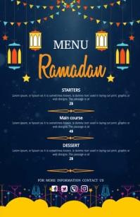 ramadan menu,menu Wide Setengah Halaman template
