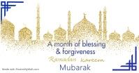 Ramadan mubarak , islamic event Isithombe Esabiwe ku-Facebook template