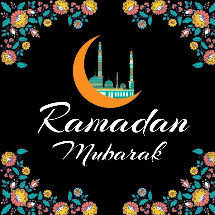 Ramadan mubarak , islamic event 徽标 template
