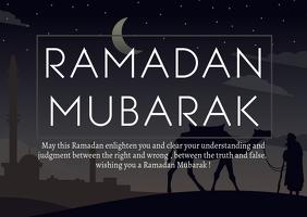 Ramadan Mubarak Cartolina template