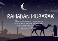Ramadan Mubarak Postal template