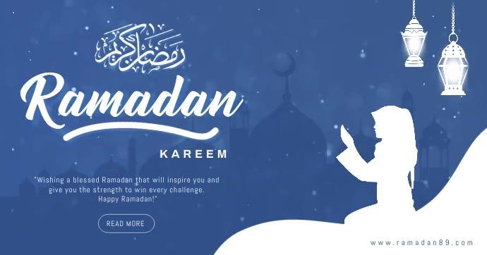 Ramadan mubarak facebook post template