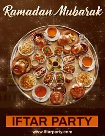 Ramadan Mubarak Flyer Template Iflaya (Incwadi ye-US)