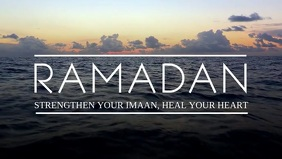 Ramadan Mubarak Heart Video Template Facebook-covervideo (16:9)