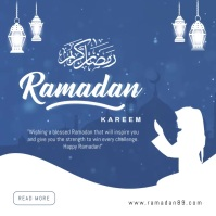 Ramadan mubarak instagram post template
