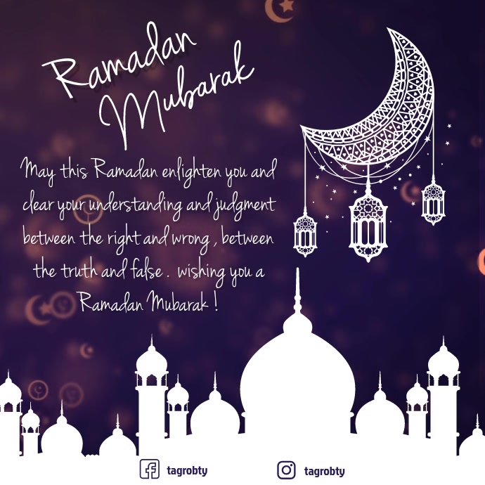 ramadan mubarak kareem video post