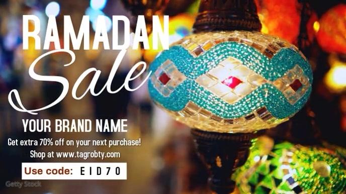 Ramadan offer sale editable video template Digitalt display (16:9)