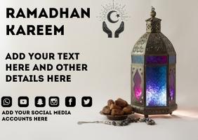 Ramadan Poster Cartolina template