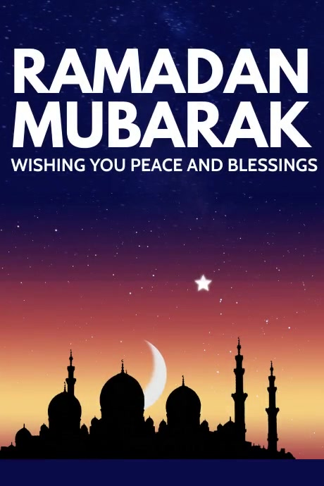 Ramadan Poster Template Plakat