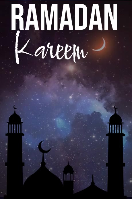 Ramadan Poster Template Plakkaat