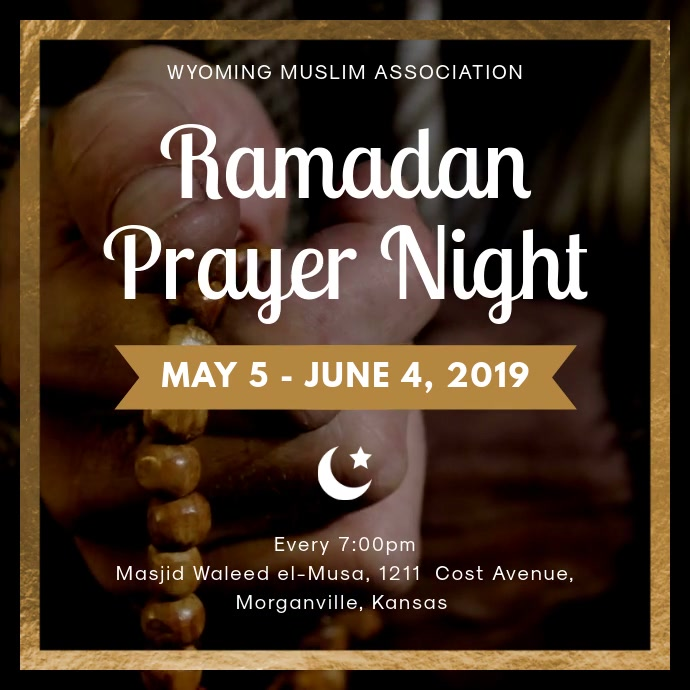 Ramadan Prayer Event Invitation Social Media Post