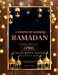 Ramadan Ramadan, eid, Chand raat Pamflet (Letter AS) template