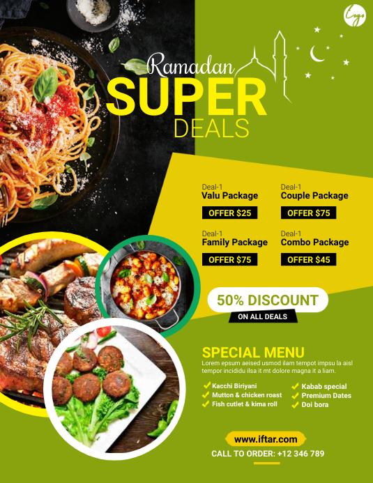 Ramadan Restaurant Flyer Pamflet (VSA Brief) template