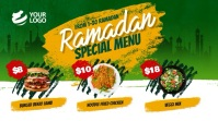 Ramadan Restaurant Menu Digital Display Digitale Vertoning (16:9) template