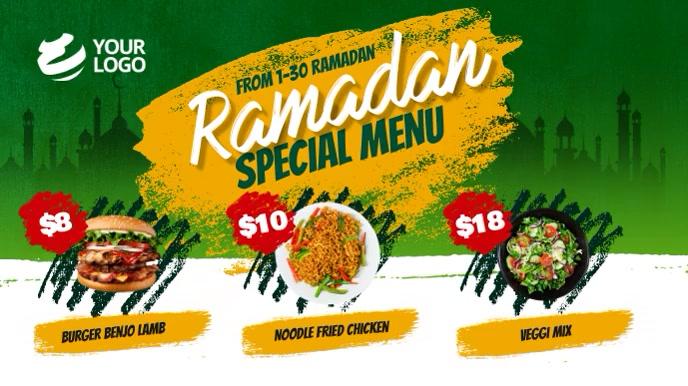 Ramadan Restaurant Menu Digital Display template