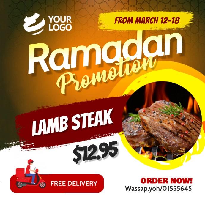 Ramadan restaurant Promotion Instagram Iphosti le-Instagram template
