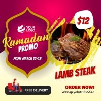 Ramadan restaurant Promotion Instagram template
