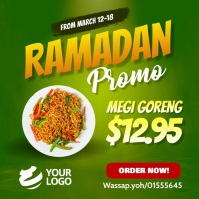 Ramadan restaurant Promotion Instagram Instagram-opslag template