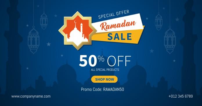 Ramadan Sale Banner Рекламное объявление Facebook template