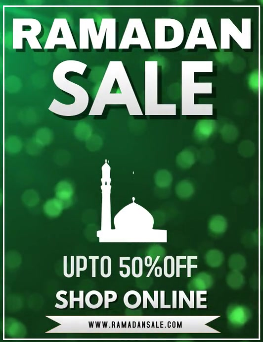 Ramadan Sale Flyer Template Volantino (US Letter)
