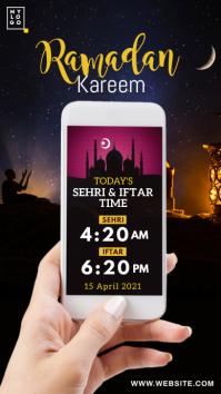 Ramadan Sehri & Iftar Time Instagram Story template