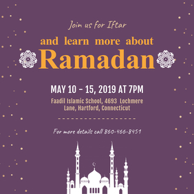 Ramadan Seminar Event Advert