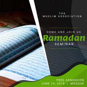 Ramadan Seminar Invitation Instagram Post Template