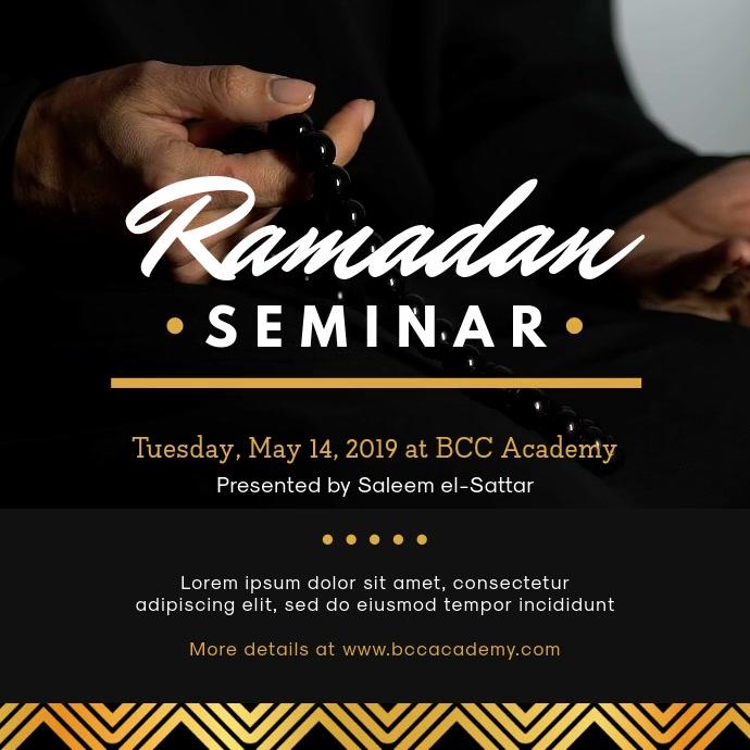 Ramadan Seminar Invitation Template