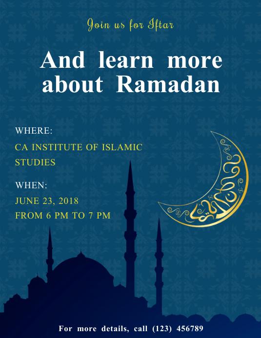 Ramadan Seminar Invite Flyer Template | PosterMyWall