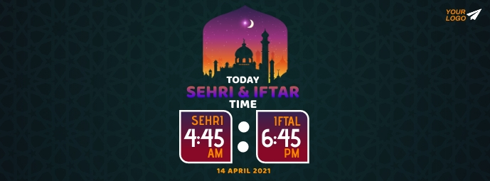 Ramadan Sehri & Iftar Time Facebook Omslag Foto template