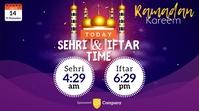 Ramadan Sheri & Iftar Time Twitter Post template