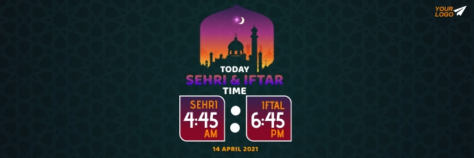 Ramadan Sheri & Iftar Time Twitter Opskrif template
