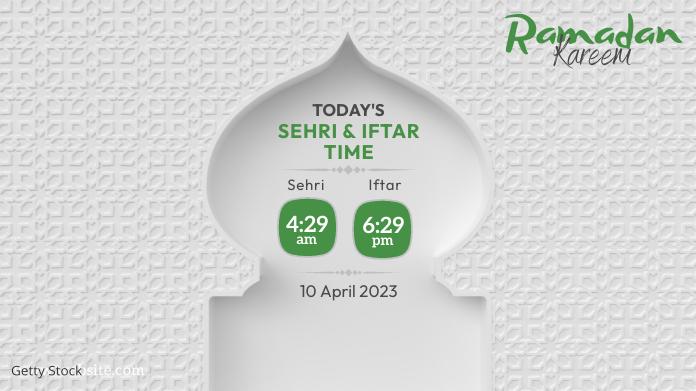 Ramadan Sheri & Iftar Time Twitter-bericht template