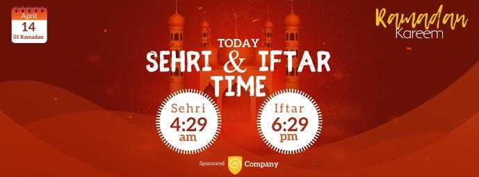 Ramadan Sheri & Iftar Time Facebook Omslag Foto template