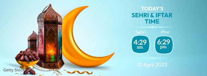 Ramadan Sheri & Iftar Time Фотография обложки профиля Facebook template