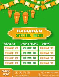 Ramadan Special Menu Ad Flyer free editable t 传单(美国信函) template