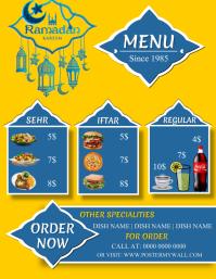Ramadan Special Restaurant Menu Promo Ad Temp Flyer (US Letter) template