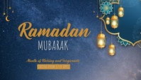Ramadan template Header ng Blog