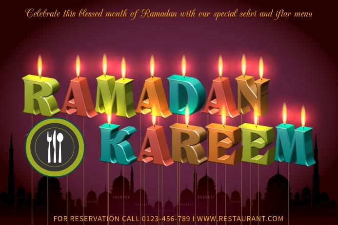 Ramadan Template Баннер 4' × 6'
